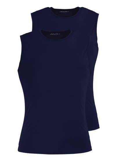 JOCKEY ärmelloses Athletic Shirt Rundhals Doppelpack nachtblau - Hemden Meister