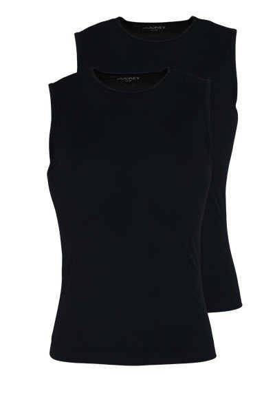 JOCKEY ärmelloses Athletic Shirt Rundhals Doppelpack schwarz - Hemden Meister