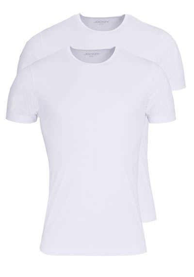 JOCKEY T-Shirt Kurzarm Rundhals Singel Jersey weiß - Hemden Meister