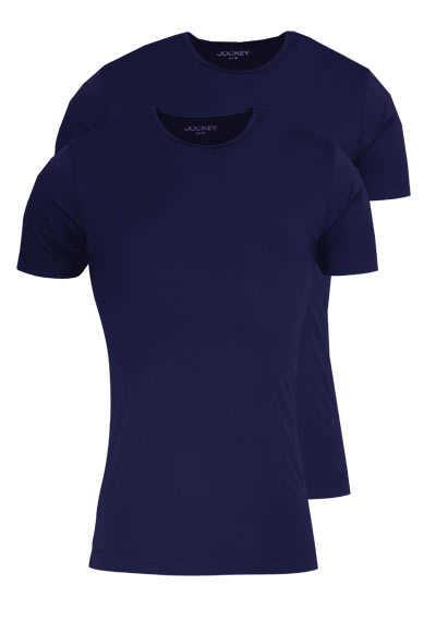 JOCKEY T-Shirt Kurzarm Rundhals Singel Jersey nachtblau - Hemden Meister