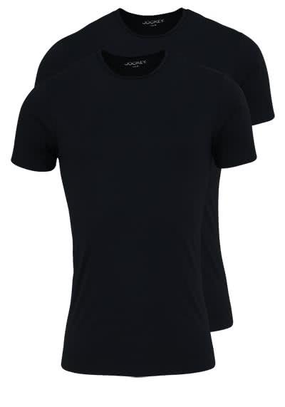JOCKEY T-Shirt Kurzarm Rundhals Singel Jersey schwarz - Hemden Meister