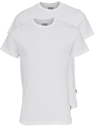 JOCKEY T-Shirt Halbarm Rundhals Single Jersey weiß - Hemden Meister