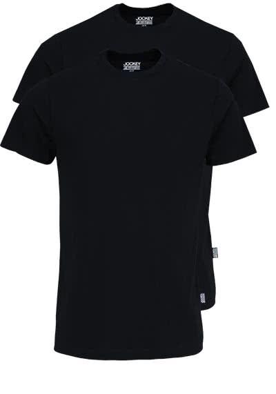 JOCKEY T-Shirt Halbarm Rundhals Single Jersey schwarz - Hemden Meister