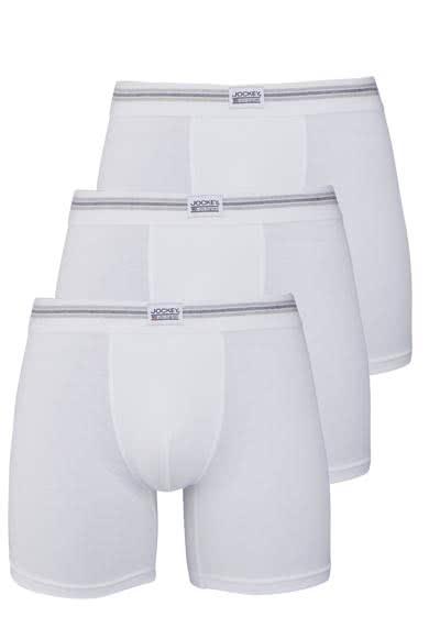 JOCKEY Boxer Trunk Boxershorts Single Jersey 3er Pack weiß - Hemden Meister