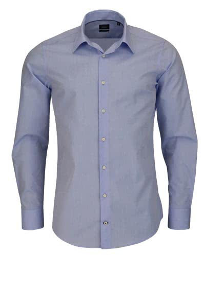 JOOP Slim Fit Hemd PIERCE Langarm New Kent Kragen Chambray hellblau