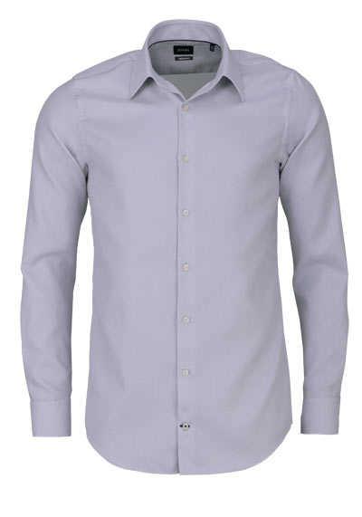 JOOP Modern Fit Hemd MARTELLO Langarm New Kent Kragen Struktur grau - Hemden Meister