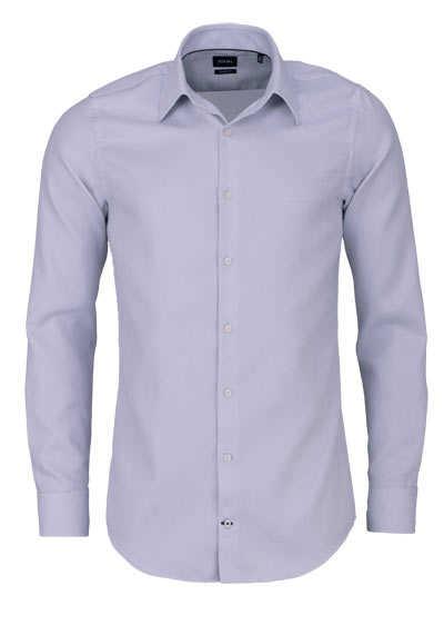 JOOP Slim Fit Hemd PIERCE Langarm New Kent Kragen Struktur grau - Hemden Meister
