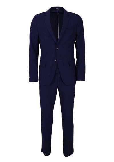 JOOP Anzug 2-teilig Reverskragen reine Schurwolle dunkelblau - Hemden Meister
