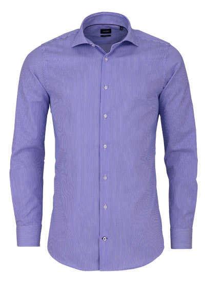 JOOP Slim Fit Hemd PANKO Langarm Haifischkragen Streifen blau - Hemden Meister