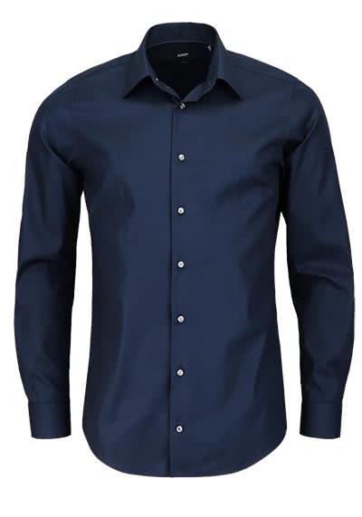 JOOP Slim Fit Hemd PIERCE Langarm New Kent Kragen Popeline nachtblau - Hemden Meister