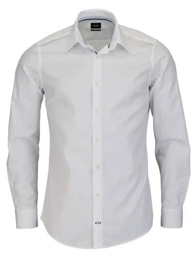 JOOP Slim Fit Hemd PIERCEK Langarm New Kent Kragen Popeline weiß - Hemden Meister