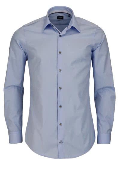 JOOP Slim Fit Hemd PIERCEK Langarm New Kent Kragen Popeline hellblau - Hemden Meister