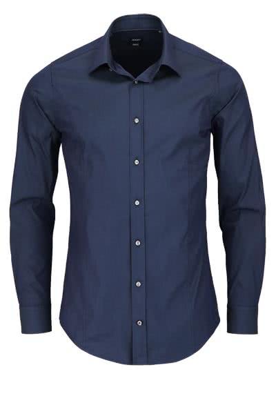JOOP Slim Fit Stretch Hemd VICTOR Langarm New Kent Kragen nachtblau - Hemden Meister