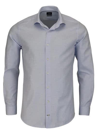 JOOP Slim Fit Hemd PANKO Langarm New Kent Kragen Struktur hellblau - Hemden Meister