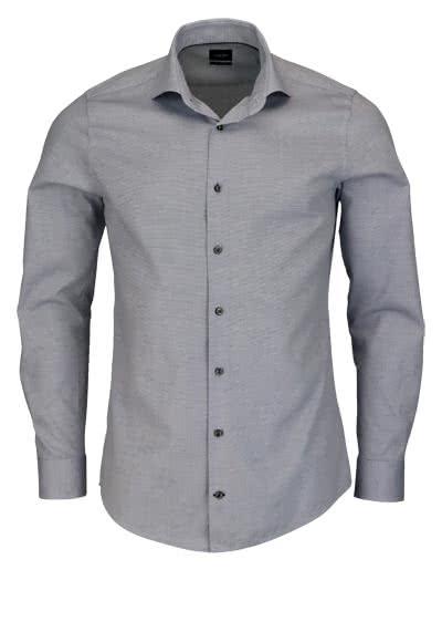 JOOP Slim Fit Hemd PANKO Langarm New Kent Kragen Struktur nachtblau - Hemden Meister