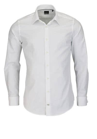 JOOP Slim Fit Hemd PIERCEUMA Langarm New Kent Kragen Two Ply weiß - Hemden Meister