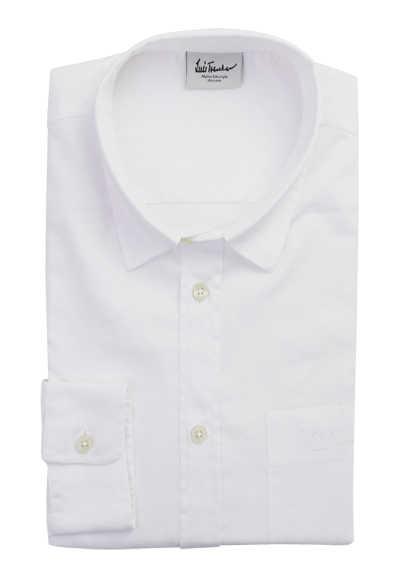 LUIS TRENKER Regular Fit Hemd BODO Langarm geknöpft weiß