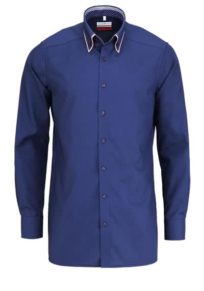 MARVELIS Modern Fit Hemd Langarm Button Down Kragen navy