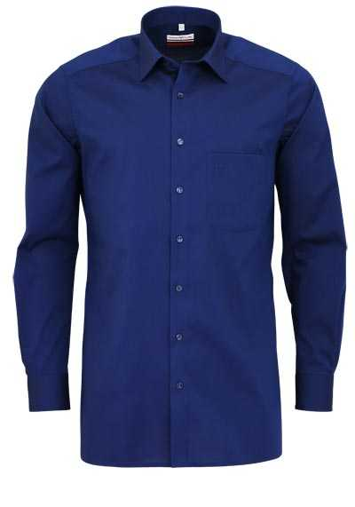 MARVELIS Modern Fit Hemd Langarm Chambray midnight