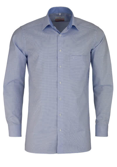MARVELIS Modern Fit Hemd Langarm New Kent Kragen Struktur hellblau - Hemden Meister