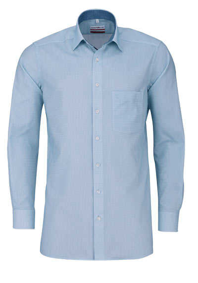 MARVELIS Modern Fit Hemd Langarm New Kent Kragen Karo grün - Hemden Meister