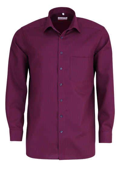 MARVELIS Modern Fit Hemd Langarm New Kent Kragen Muster rot - Hemden Meister