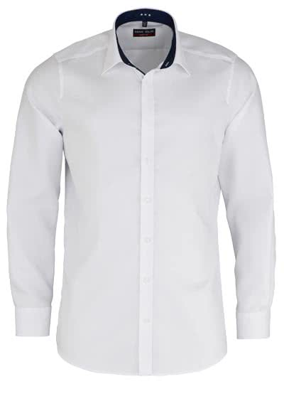 MARVELIS Body Fit Hemd Langarm New Kent Kragen Struktur weiß - Hemden Meister