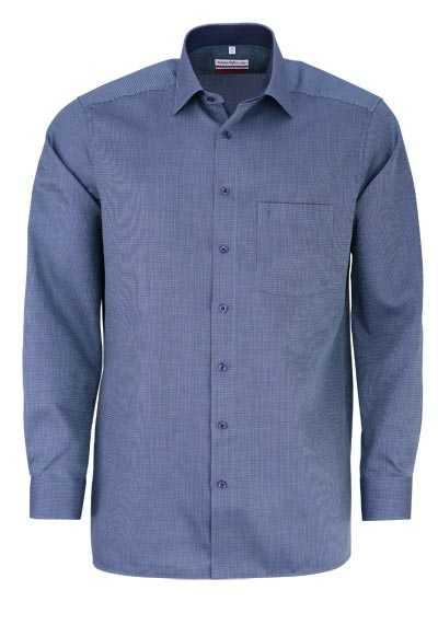 MARVELIS Modern Fit Hemd extra langer Arm Brusttasche Muster grün - Hemden Meister