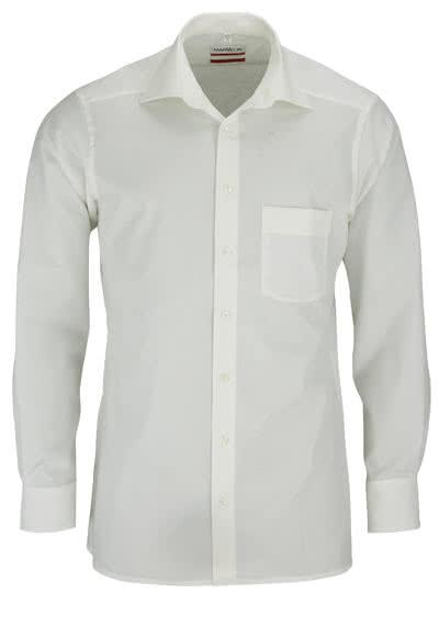 MARVELIS Modern Fit Hemd Langarm mit Brusttasche Popeline beige - Hemden Meister