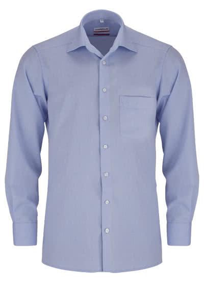 MARVELIS Modern Fit Hemd extra langer Arm Chambray hellblau - Hemden Meister