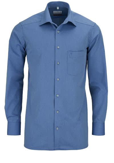 MARVELIS Modern Fit Hemd Langarm Chambray mittelblau - Hemden Meister
