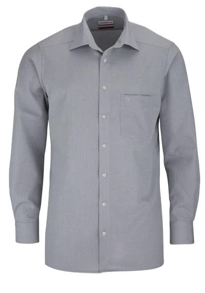 MARVELIS Modern Fit Hemd Langarm mit Brusttasche Chambray mittelgrau - Hemden Meister