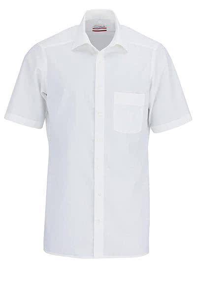 MARVELIS Modern Fit Hemd Halbarm New Kent Kragen weiß - Hemden Meister