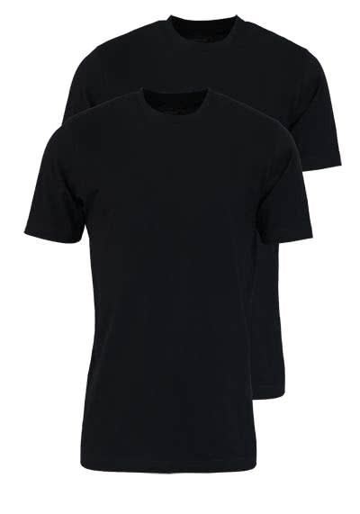 MARVELIS T-Shirt Doppelpack Rundhals schwarz - Hemden Meister