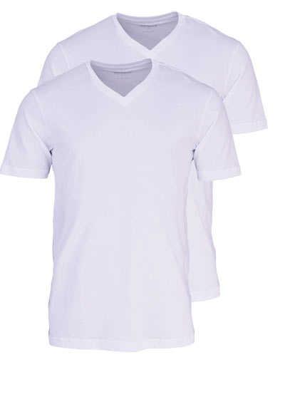 MARVELIS T-Shirt Doppelpack V-Ausschnitt weiß - Hemden Meister