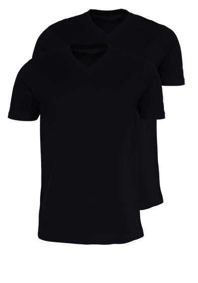 MARVELIS T-Shirt Doppelpack V-Ausschnitt schwarz - Hemden Meister