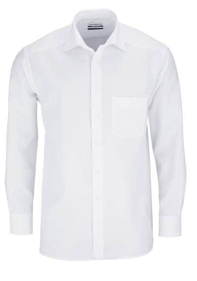 MARVELIS Comfort Fit Hemd New Kent Langarm Popeline weiß - Hemden Meister