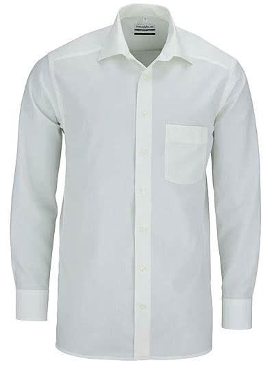 MARVELIS Comfort Fit Hemd Langarm Popeline beige - Hemden Meister