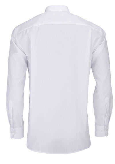 MARVELIS Comfort Fit Hemd Button Down Langarm Popeline weiß