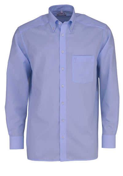 MARVELIS Comfort Fit Hemd Button Down Langarm Popeline hellblau - Hemden Meister