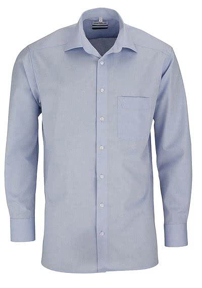 MARVELIS Comfort Fit Hemd extra langer Arm Chambray hellblau - Hemden Meister