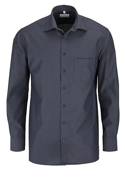 MARVELIS Comfort Fit Hemd Langarm New Kent Kragen anthrazit - Hemden Meister