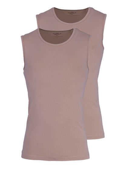 MARVELIS Body Fit T-Shirt Doppelpack V-Ausschnitt haut - Hemden Meister