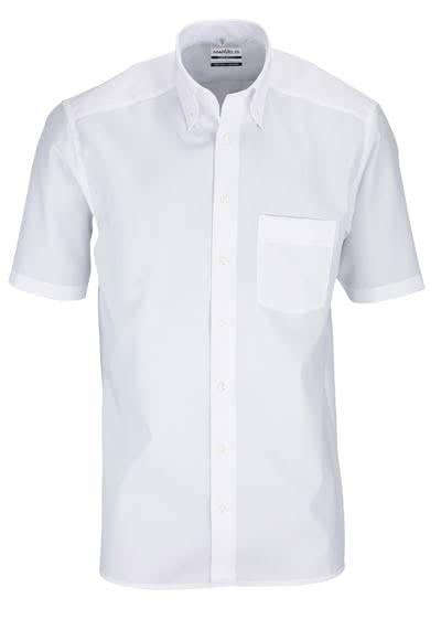 MARVELIS Comfort Fit Hemd Halbarm mit Brusttasche weiß - Hemden Meister