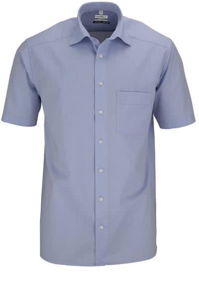 MARVELIS Comfort Fit Hemd Halbarm Chambray hellblau - Hemden Meister