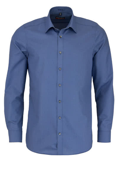 MARVELIS Body Fit Hemd Langarm New Kent Kragen rauchblau - Hemden Meister
