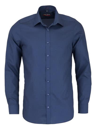 MARVELIS Body Fit Hemd Langarm New Kent Kragen nachtblau - Hemden Meister