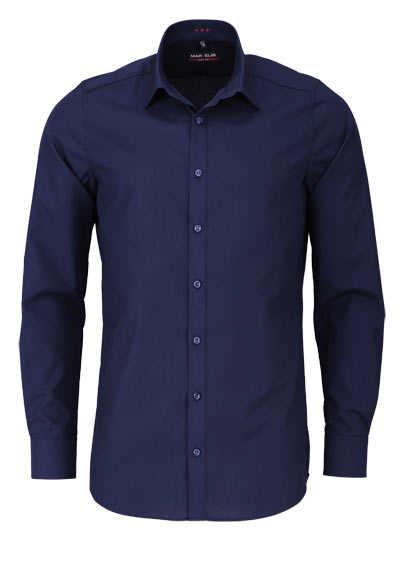 MARVELIS Body Fit Hemd Langarm New Kent Kragen marine - Hemden Meister
