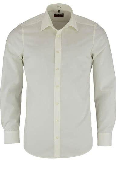 MARVELIS Body Fit Hemd Langarm New Kent Kragen beige - Hemden Meister