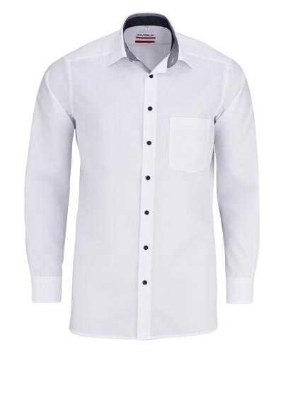 MARVELIS Modern Fit Hemd extra langer Arm Brusttasche bügelfrei weiß - Hemden Meister